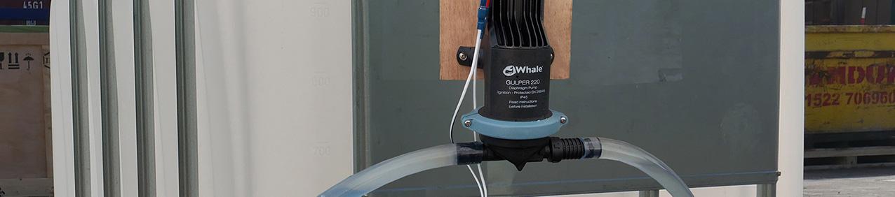 Whale Gulper pump attached to an IBC